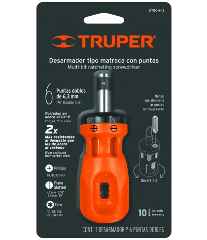 "Dest.mini t/matraca 6 ptas dobles(Blister)""TRUPER""D-TROM-12B"